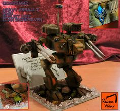 Battletech Mechwarrior Deimos Battlemech, designed, printed, coloured and finished. Tabletop Rpg, 3d Design, Master Chief, 3d Printing, It Is Finished, Gift Wrapping, Printed, Create, Gifts