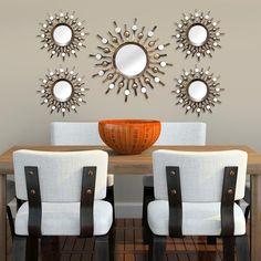 Stratton Home Decor Burst Wall Mirrors (Set of - The Home Depot Decor, Home Decor Sets, Mirror Decor, Rustic Wall Mirrors, Mirror Interior, Stratton Home Decor, Mirror Wall Decor, Wall Mirrors Set, Home Decor