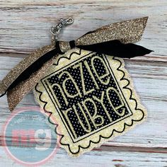 Backpack Tags, Applique Designs, Embroidery Applique, Monogram, Pendant Necklace, Jewelry, Jewlery, Bijoux, Jewerly