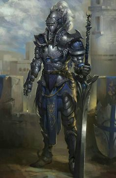 Human Cavalier Knight - Pathfinder PFRPG DND D&D d20 fantasy