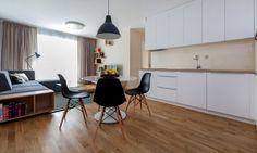Návrh obývačky s kuchyňou, Meinl Residence, Bratislava | RULES Architekti