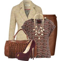 Take a Meeting, created by alicla on Polyvore and get ideas on matching outfits-who knew this would be fun.