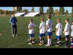 Soccer Training - Warm Up Drills 1 - YouTube...Nice warm up with no ball