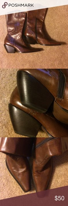 Cathy Jean Cowboy Boots Beautiful Leather short cowboy boots in good pre owned condition. Cathy Jean Shoes