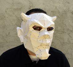 Make Your Own Halloween Evil Mask. from PlainPapyrus by DaWanda.com