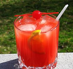Red Rum: White Rum, Triple Sec, Orange Juice, Grenadine, 7-Up