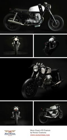 Moto Guzzi v75 Custom by Venier Customs  http://motorivista.com/customs-moto-guzzi-v75/  #motorcycle #custom #motoguzzi #italy #italian