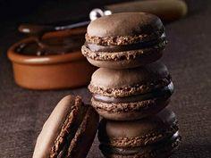 Foto dei macarons al cioccolato
