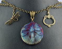 Raku Dragonfly Necklace by elementspottery on Etsy, $30.00