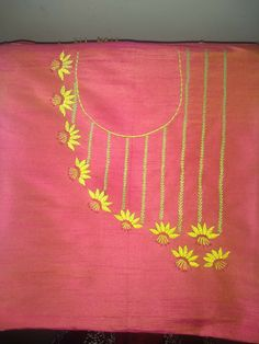 Embroidery Suits Punjabi, Embroidery On Kurtis, Hand Embroidery Dress, Kurti Embroidery Design, Bead Embroidery Patterns, Embroidery On Clothes, Hand Embroidery Stitches, Machine Embroidery Designs, Indian Embroidery Designs