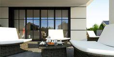 Z443 to wyjątkowy dom z kategorii projekty domów z czterema pokojami Outdoor Furniture Sets, Outdoor Decor, Home Interior Design, Sun Lounger, House Plans, Sweet Home, New Homes, Farmhouse, House Design