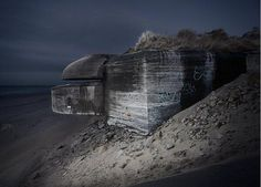 Abandoned Bunker series by Amsterdam photographer Jonathan Andrew. Locations were from the Netherlands, France and Belgium Abandoned Buildings, Abandoned Places, Des Photos Saisissantes, Restaurant France, Haunting Photos, Concrete Structure, Fortification, World War Two, Architecture