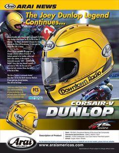 Arai RX-GP Joey Dunlop 1985 Replica Limited Edition 2014