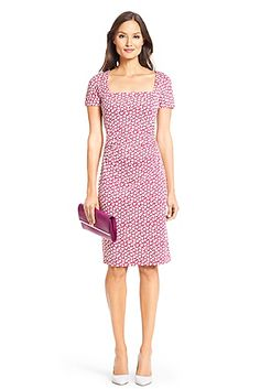 DVF Stasie Silk Jersey Sheath Dress