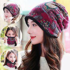 Women Warm Cashmere Thicken Beanie Hat Collar  fashion  clothing  shoes   accessories   4c70c0160411