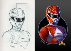 Mighty Morphin Power Rangers. RED RANGER by le0arts.deviantart.com on @DeviantArt