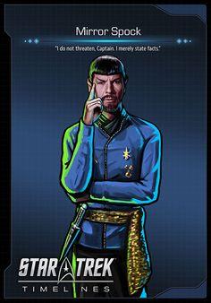 The Mirror Universe in Star Trek Timelines - Trekking into the future - Peliculas Star Trek Games, Star Trek Tv, New Star Trek, Star Trek Ships, Star Wars Boba Fett, Star Wars Clone Wars, Spock, Vaisseau Star Trek, Science Fiction