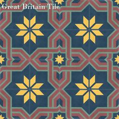 Pattern can be custom ordered in any colors from the Mexican color chart. - See more at: Cement Tile Shop - Encaustic Cement Tile Arabesque