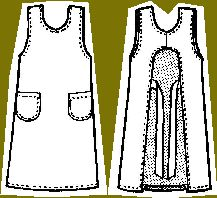 canning and kitchen apron pattern (nice, has shoulder strap, instead of the strap around the neck)