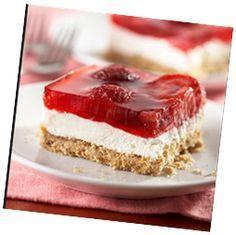 quick weight loss: WW Recipes - Strawberry Pretzel Salad Squares 2 Points+ Per Serving