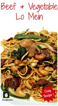 Beef and Vegetable Lo Mein. A quick and easy Chinese favorite with great flavors! | Lovefoodies.com #Asian