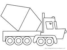 Aneka Gambar Mewarnai - Gambar Mewarnai Mobil Molen Untuk Anak PAUD dan TK.   Pelajaran menggambar d...