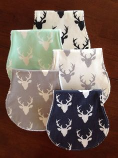 Burp Cloths-Burp Cloth Boy-Baby Burp Clothes-Deer by bbsprouts