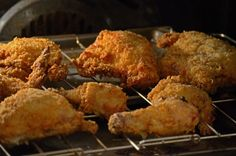 Oven fried Buttermilk Chickenn finishes directly on a rack in your hot oven.