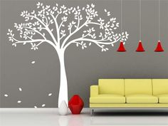 White Tree Wall Decal-Vinyl White Tree Decal Nursery-Vinyl Tree Decal White Family Tree Sticker-Removable Tree Decal For Living Room by Walldecorative on Etsy https://www.etsy.com/ca/listing/235739012/white-tree-wall-decal-vinyl-white-tree