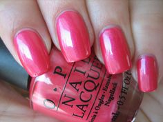 OPI ~ COME TO POPPY ~ Stem Collection 2011 Shimmering Coral-Pink Nail Polish