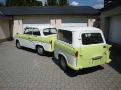 trabant Trailer Build, Car Trailer, Camper Trailers, Campers World, Old Scool, Veteran Car, East Germany, Go Camping, Motorhome