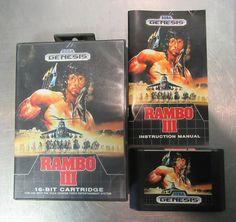 RAMBO III (Sega Genesis)  Classic Game Case & Manual