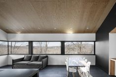 Cantilevered Home in the Mountains of Quebec