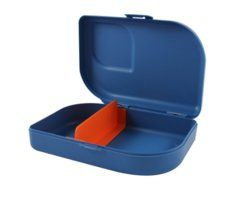 Nana Lunchbox van 100% recyclebaar Bioplastic in blauw
