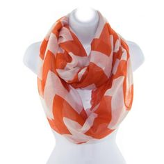 Clemson Tigers Team Colors Beautiful, Lightweight, Thin Coral and White Chevron Stripe Print Polyester Fabric... $11.99 #Judson