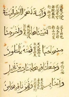 Verses 33 and 34 of sura Ya-Seen (with Chinese translation)