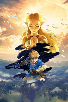Diamond painting Cartoon The Legend Of Zelda Breath Of The Wild Wall Art Picture Art Print Painting for Living Room Wall Decor The Legend Of Zelda, Legend Of Zelda Breath, Breath Of The Wild, Main Theme, Link Zelda, Fan Art, Twilight Princess, Video Game Art, Game Character
