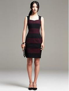 Sloan-Fit Rugby Stripe Sheath Great dress for a day event or evening out!