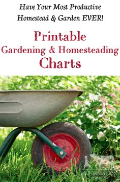 (Over 80) Printable Gardening and Homesteading Charts for your Home Binder!