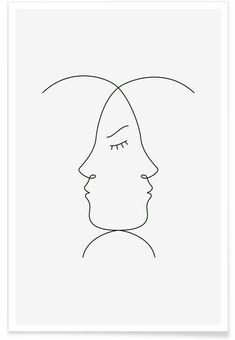 minimalist line drawing poster juniqe drawings wuukasch gemerkt