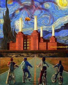 Que pasa cuando combinas Stranger Things Pink Floyd y Van Gogh? Discos Pink Floyd, Arte Pink Floyd, Pink Floyd Wall Art, Pink Floyd Echoes, Pink Floyd Album Covers, Christian Rock Music, Pink Floyd Poster, The Beatles, Art Deco Stil