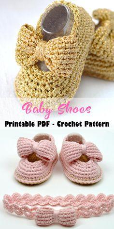 Crochet Shoes Pattern, Baby Shoes Pattern, Crochet Headband Pattern, Booties Crochet, Crochet Slippers, Shoe Pattern, Baby Patterns, Knitting Patterns, Crochet Beanie