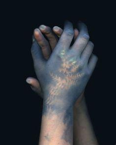 print cyanotype on skin