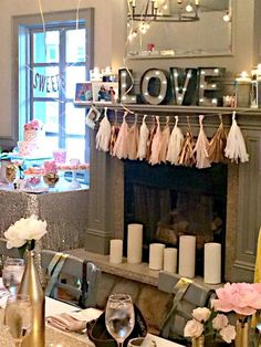 Bubbly Bar, Blush, Pink & Gold Bridal/Wedding Shower Party Ideas | Photo 2 of 39 | Catch My Party