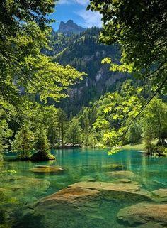 Blue Lake, Kandersteg, Switzerland