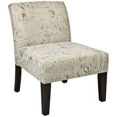 Vintage Scrapbook Postcard Print Side Chair I love this fabric #vintage #scrapbook #side_chair #postcard #fabric