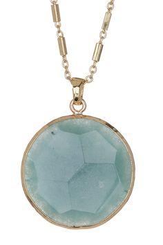 Nordstrom Rack | Circle Stone Pendant Necklace | Nordstrom Rack