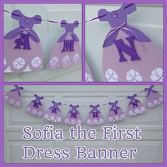 A personal favourite from my Etsy shop https://www.etsy.com/listing/228318227/sofia-princess-dress-banner