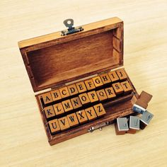 Wooden Alphabet Stamp Set from My Party Store