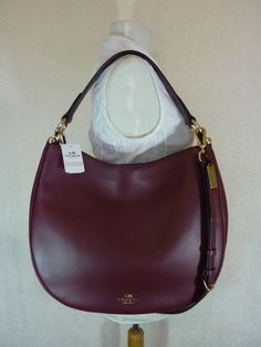 03ca2731305ced Coach 36026 Nomad Hobo Glovetanned Leather Handbag Crossbody Burgundy for  sale online | eBay